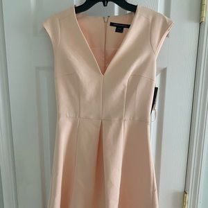 Pale pink/peach French connection v neck dress NWT